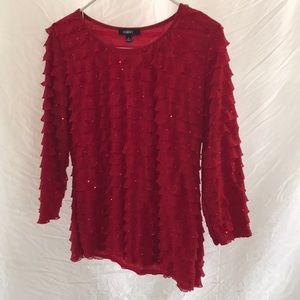 Elementz red sequin top